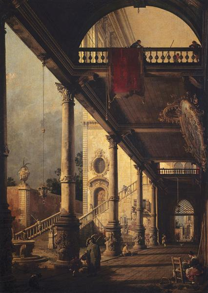 Perspective with a Portico - Giovanni Antonio Canal
