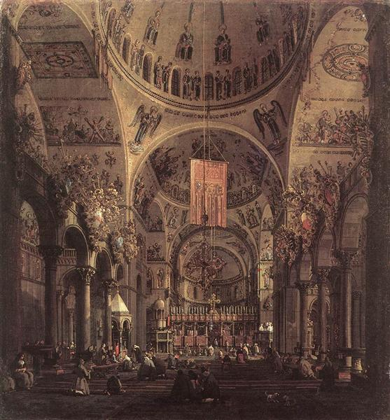 San Marco: the Interior - Canaletto