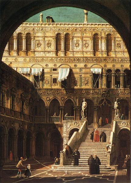 Scala dei Giganti, 1765 - Canaletto