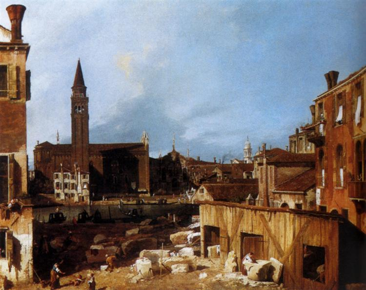 Stonemason's Yard, 1727 - Canaletto
