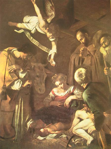 Nativity with St. Francis and St. Lawrence, 1609 - Caravaggio