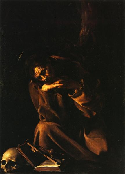 Saint Francis in Meditation, c.1606 - Caravaggio