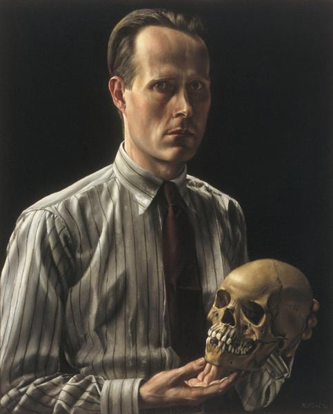 Zelfportret met schedel, 1936 - Carel Willink