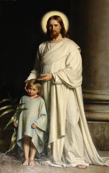 Christ and Child, 1873 - Карл Блох