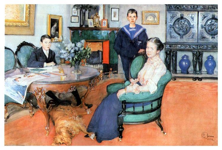 Hakon, Daga and Edgar, 1902 - Карл Ларссон