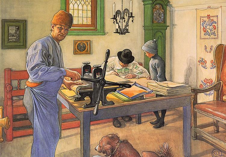 My Acid Workshop (Where I do my Etching), 1910 - Carl Larsson