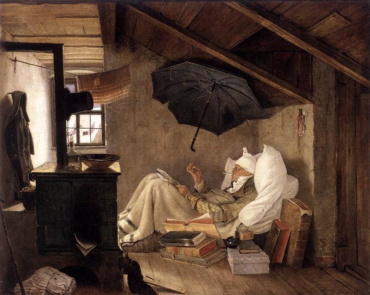 The Poor Poet, 1837 - Carl Spitzweg