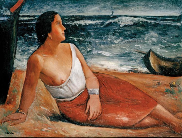 Donna sulla spiaggia, 1931 - Carlo Carra