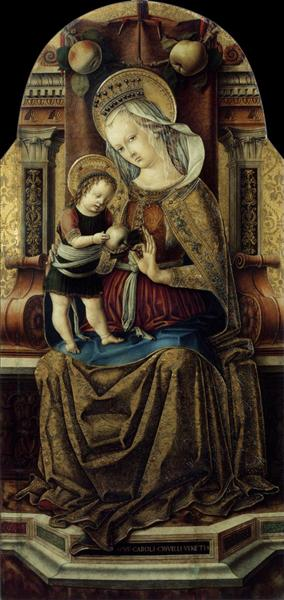 Virgin and Child Enthroned, c.1476 - Carlo Crivelli