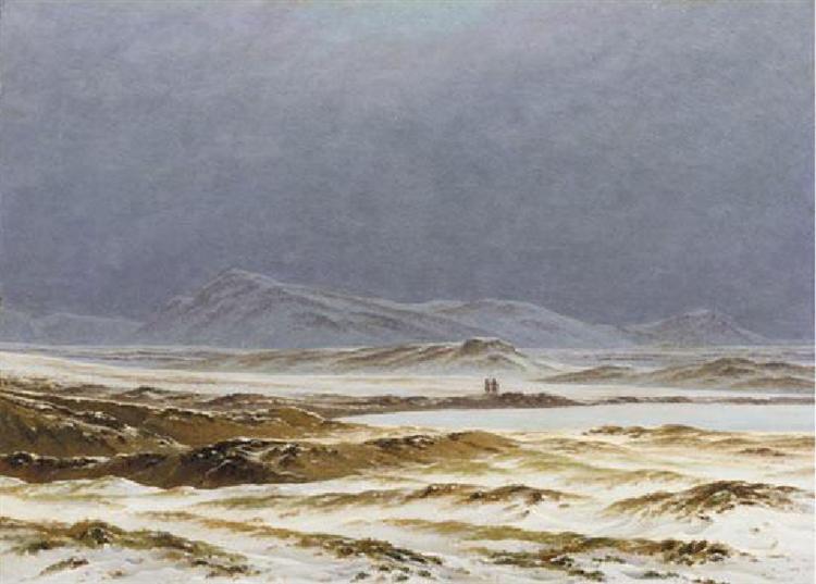 A Northern Spring Landscape, 1825 - Caspar David Friedrich
