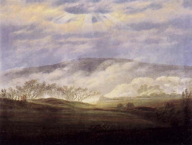 Fog in the Elbe Valley, 1821 - Caspar David Friedrich