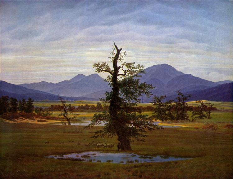 Solitary Tree, 1822 - Caspar David Friedrich