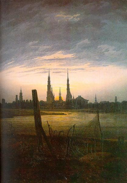 City at Moonrise, 1817 - Caspar David Friedrich