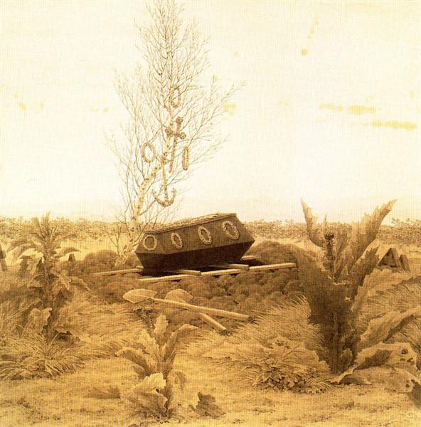 Coffin and Grave - Caspar David Friedrich