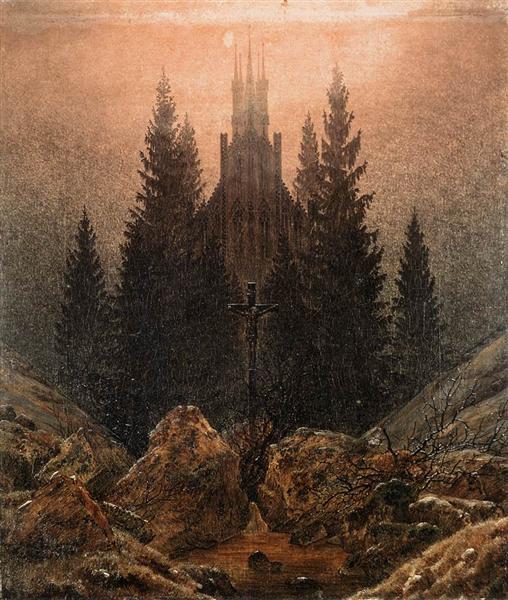 Cross and Church in the Mountains, 1812 - Caspar David Friedrich