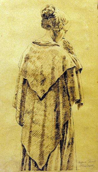 Woman in a Cloak - Caspar David Friedrich