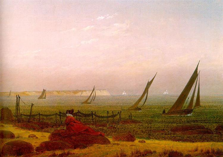 Woman on the Beach of Rugen, c.1818 - Caspar David Friedrich