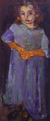Little Girl in Blue - Chaim Soutine
