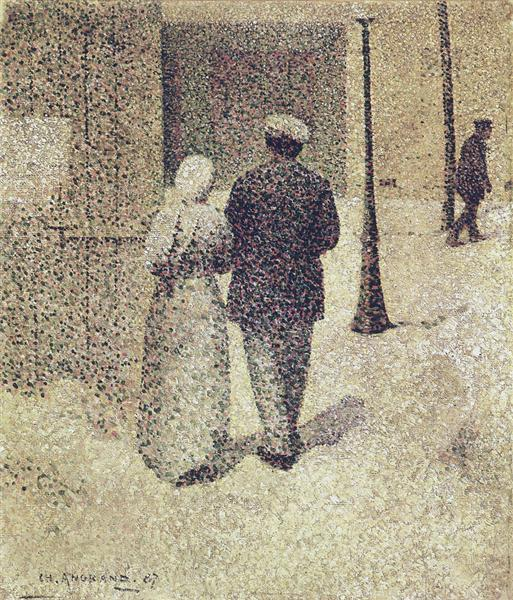 Couple in the street, 1887 - Charles Angrand