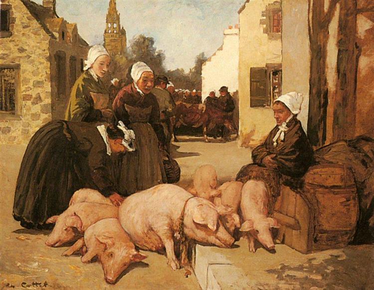 Selling Livestock - Charles Cottet