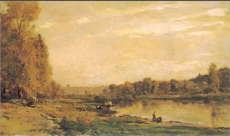 The banks of the Oise, 1872 - Charles-Francois Daubigny