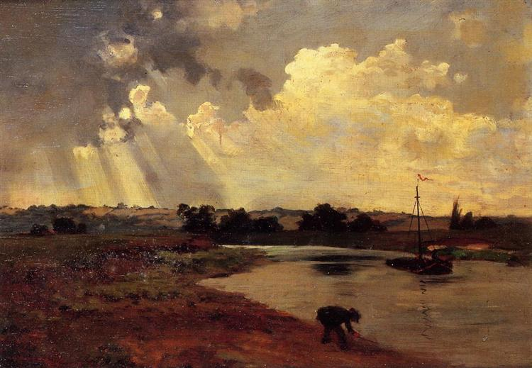The Banks of the River - Charles-Francois Daubigny