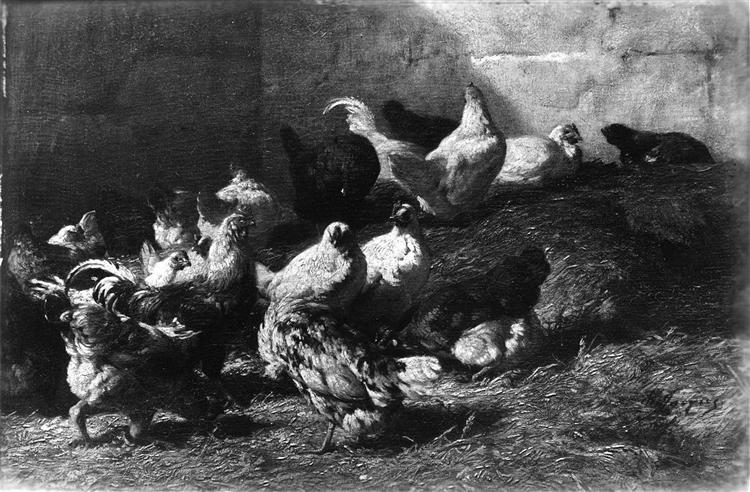Chickens - Charles Jacque