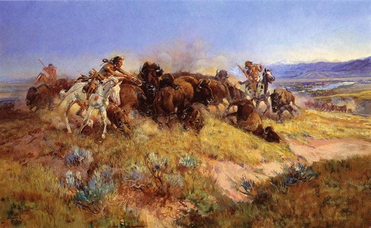Buffalo Hunt No.40, 1919 - Charles M. Russell