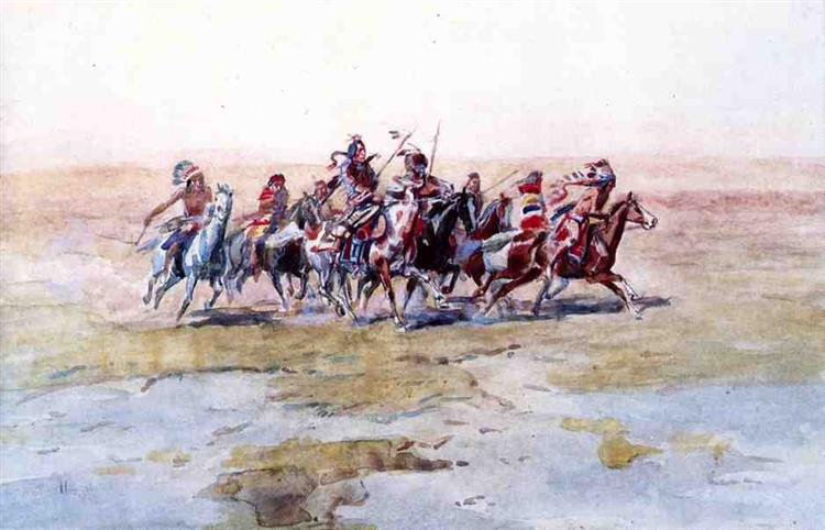 Cree War Party - Charles M. Russell