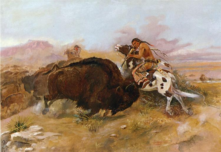 Meat for the Tribe, 1891 - Charles M. Russell