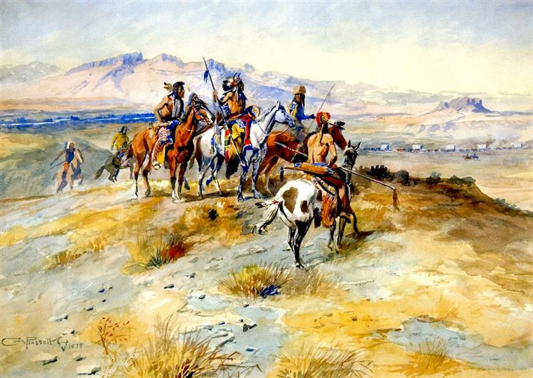 The Coming of the White Man, 1899 - Charles M. Russell