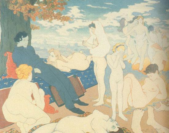 The Dawn of of the Dream, or Les Fleurs du Mal - Charles Maurin
