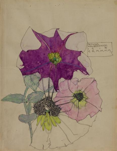 Petunia, Walberswick, 1914 - Charles Rennie Mackintosh