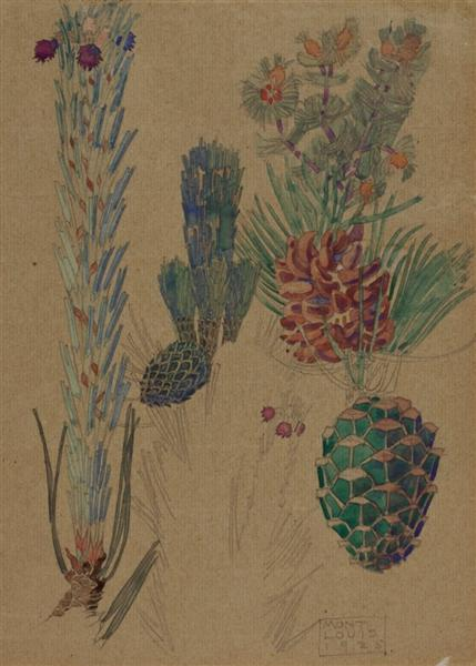 Pine Cones, 1925 - Charles Rennie Mackintosh