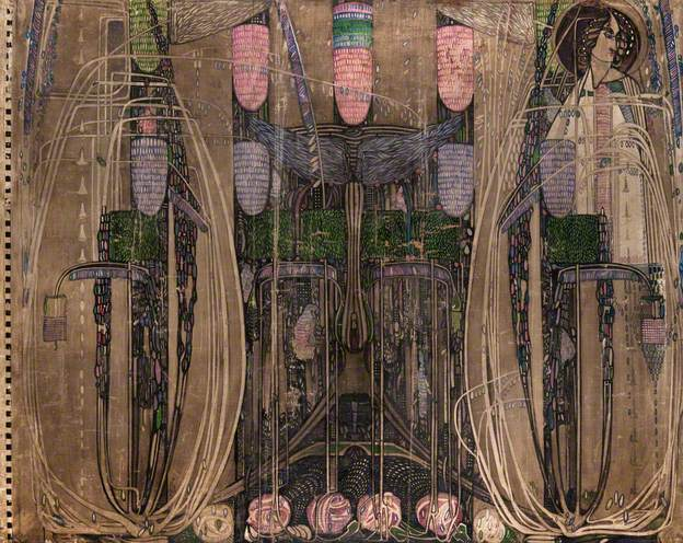 Wall Panel for the Dug-Out (Willow Tea Rooms, Glasgow) - left, 1917 - Charles Rennie Mackintosh