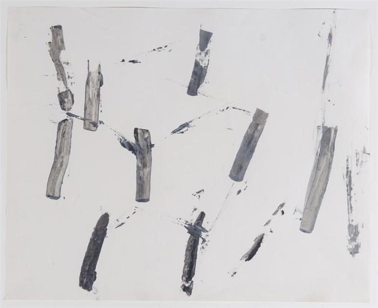 Untitled (After Nature: Tree Trunks), 1959 - Charlotte Posenenske