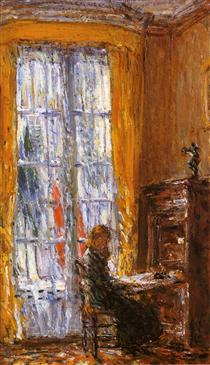 At the Writing Desk - Childe Hassam