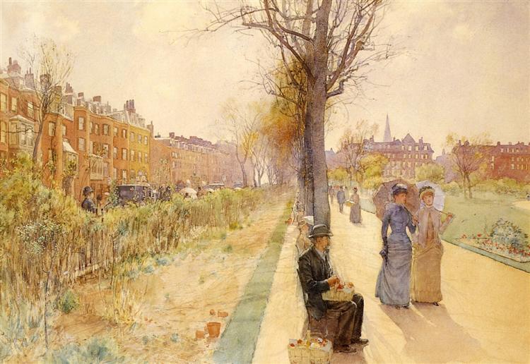 Boston Common, 1886 - 1891 - Childe Hassam