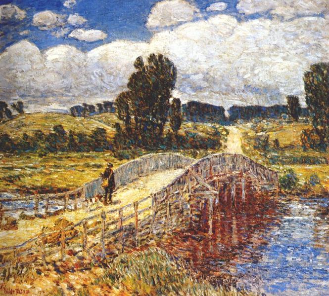 Bridge at Old Lyme, 1908 - Childe Hassam