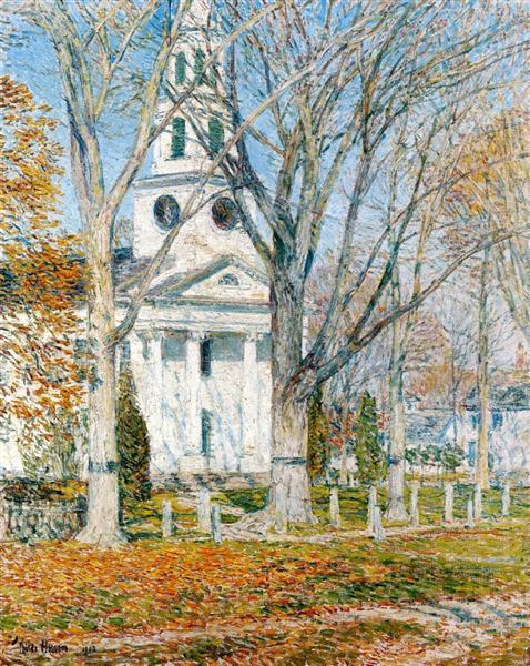 Church at Old Lyme, 1903 - Чайльд Гассам