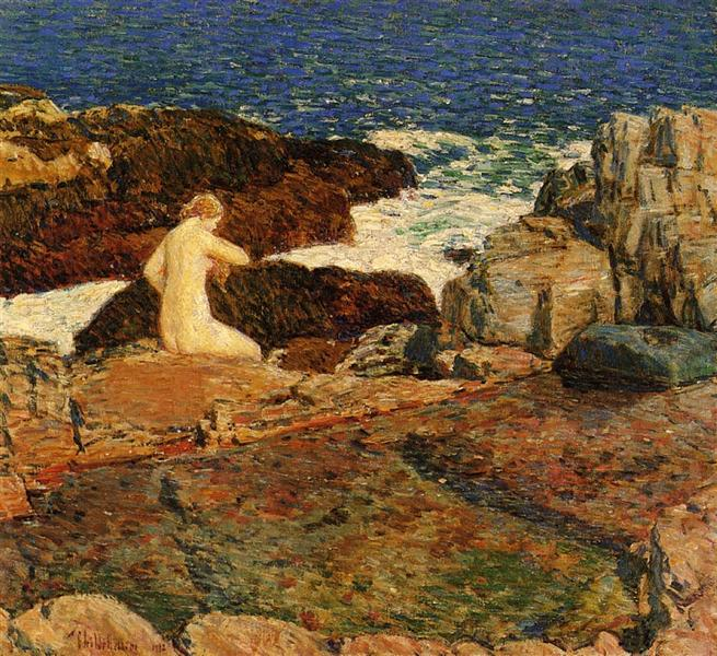 East Headland Pool, 1912 - Childe Hassam