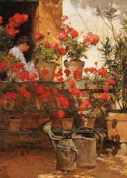 Geraniums, 1888 - Childe Hassam