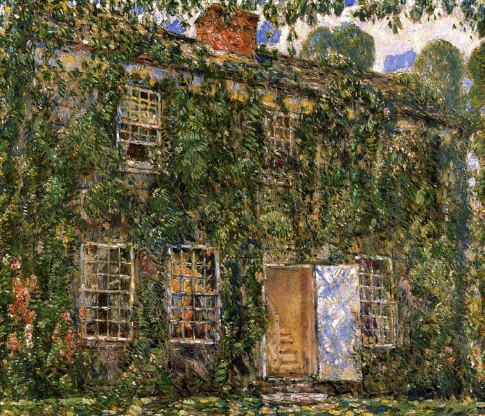 Home Sweet Home Cottage, East Hampton, 1916 - Childe Hassam