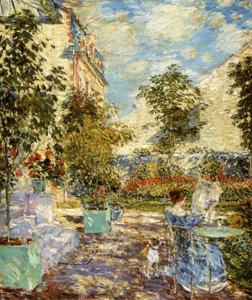 In a French Garden, 1897 - Childe Hassam