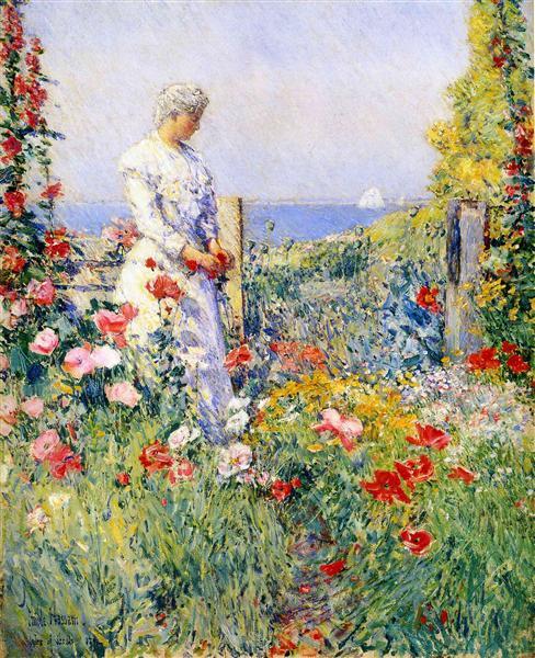 In the Garden (aka Celia Thaxter in Her Garden - Childe Hassam