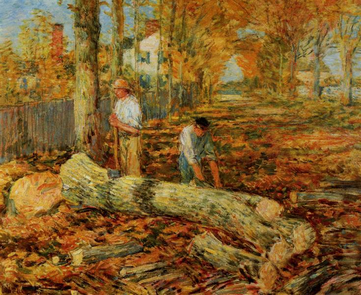 Lumbering, 1903 - Childe Hassam