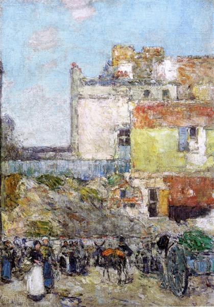 Marche, St. Pierre, Montmartre, 1888 - Childe Hassam