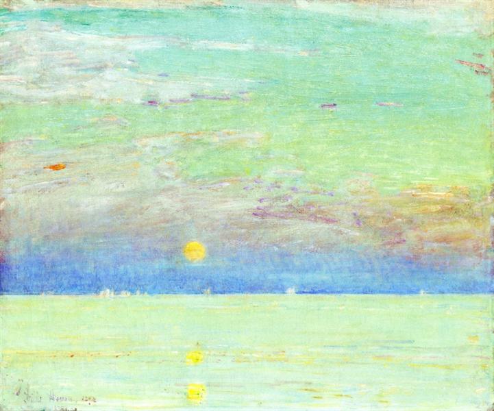 Moonrise at Sunset, 1892 - Childe Hassam