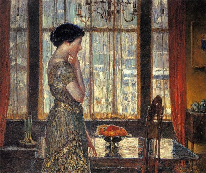 New York Winter Window, 1918 - 1919 - Childe Hassam