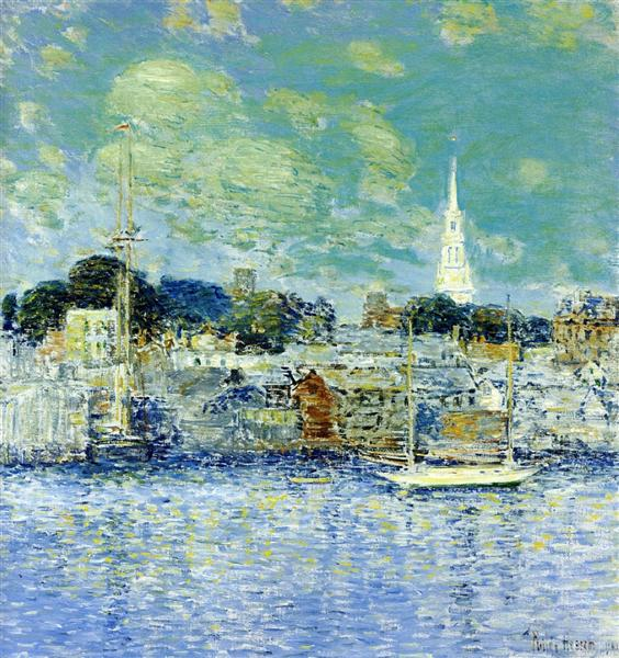 Newport Waterfront, 1901 - Childe Hassam